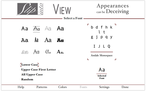 Appearances Fonts