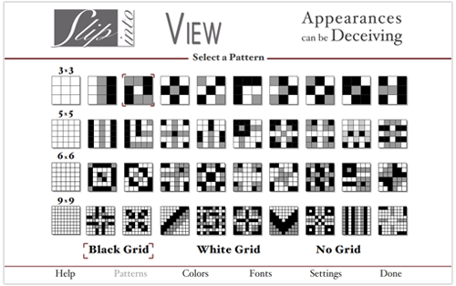Appearances Menu Patterns